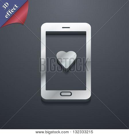 Love Letter, Valentine Day, Billet-doux, Romantic Pen Pals Icon Symbol. 3D Style. Trendy, Modern Des