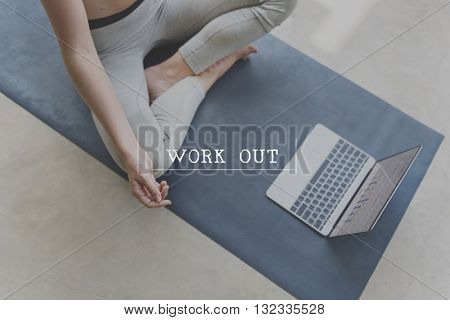 Work Out Cardio Wellbeing Exercise Fitness Active Concept