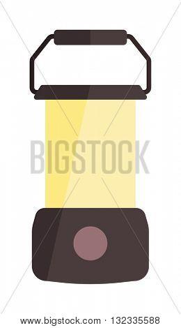 Camping lamp vector illustration.