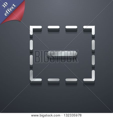 The Minus In A Square Icon Symbol. 3D Style. Trendy, Modern Design With Space For Your Text Vector