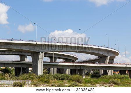 Bridge On River In European City