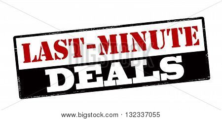Rubber stamp with text last minute deals inside vector illustration
