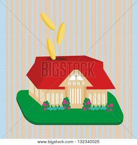Putting your money where it counts with home investments , vector illustration