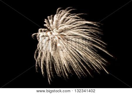 Colorful fireworks in the sky on a black background