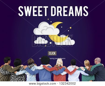 Sweet Dreams Happiness iIlusion Relief Good Night Concept