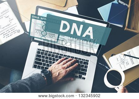 DNA Research Laptop Screen Concept
