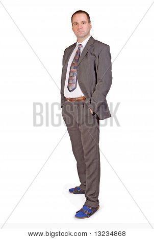 hombre en zapatillas