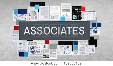 Associates Brainstorming Business Collaboration Concept