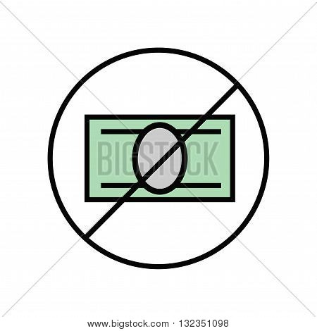 Free entrance to the exhibition or presentation. Illustration of money euro linear Icon