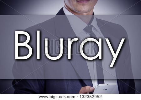 Bluray - Young Businessman With Text - Business Concept