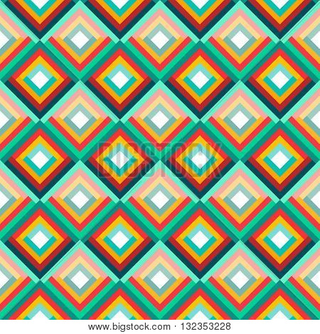 Flat Style Vector Geometric Seamless Pattern. Texture for Web, Print, Fabric, Textile, Website, Card Background, Wrapping paper
