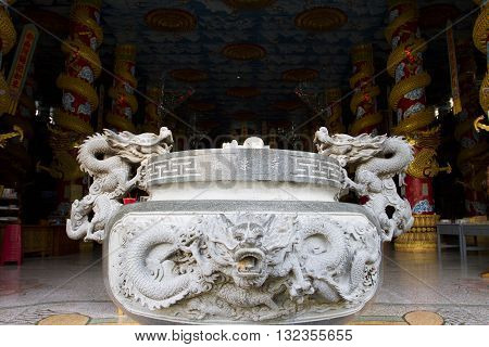 The khao rup chang cave tempie the bodh gaya chedi of Thailand. Sadao district of Songkhla