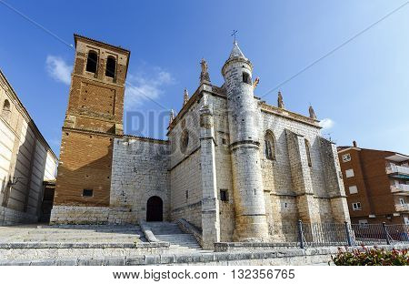 Mun Antolin church in Tordesillas (Spain) located in the province of Valladolid where Reyes Catholics signed the Treaty of Tordesillas with the Portuguese crown in 1494.