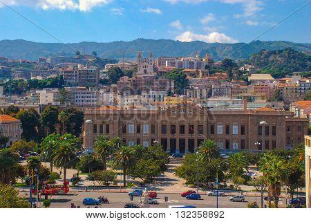 ITALY, SICILY - MESSINA 28.09.2009: City view of Messina Sicilian town Italy.