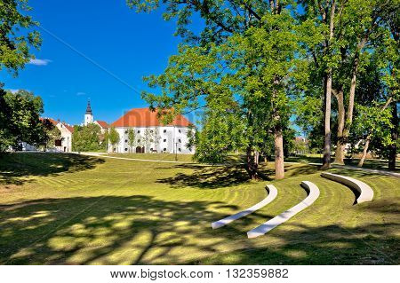 Town of Jastrebarsko park and landmarks view central Croatia