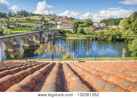 Old Roman Bridge In Ponte Da Barca