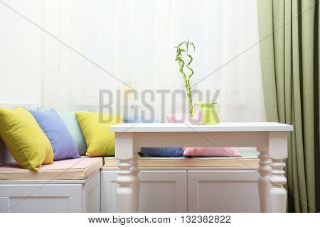 Kitchen nook in modern interior