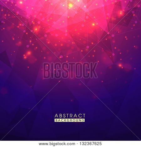 Glossy sparkling Abstract Geometrical Background, Modern Hi-Tech Vector Illustration.