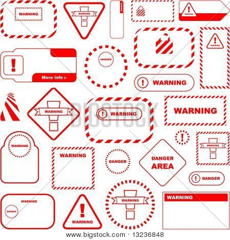 Warning vector sign. Vector great collection.