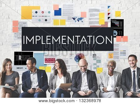 Implementation Accomplish Installing Perform Concept