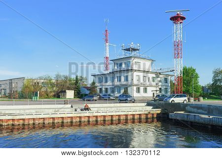 Harbor Master Office Building At The Port In Ventspils