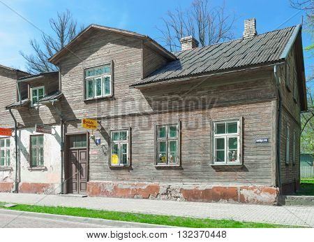 Old House Made Of Wood In Ventspils