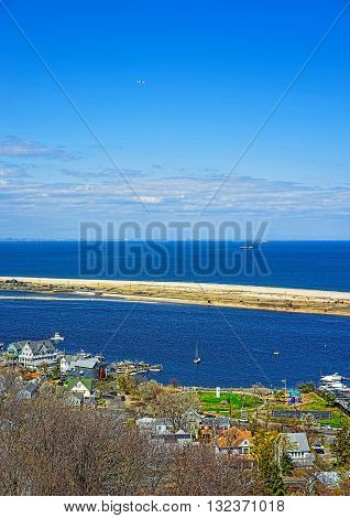 View On Houses And Atlantic Ocean From Light House
