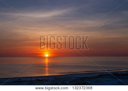 Sunset At The Beach In Ventspils