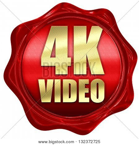 4k video, 3D rendering, a red wax seal