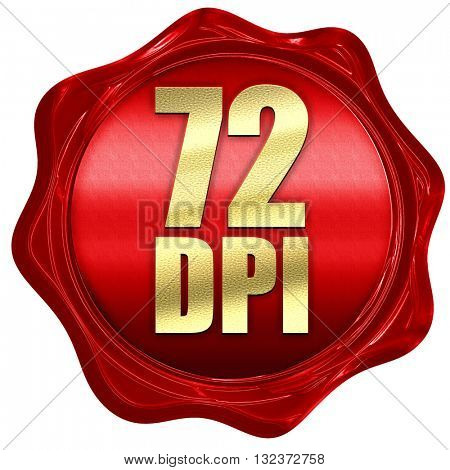 72 dpi, 3D rendering, a red wax seal