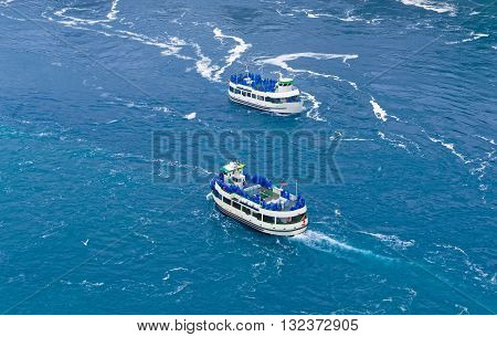 Two Ferries In Niagara River
