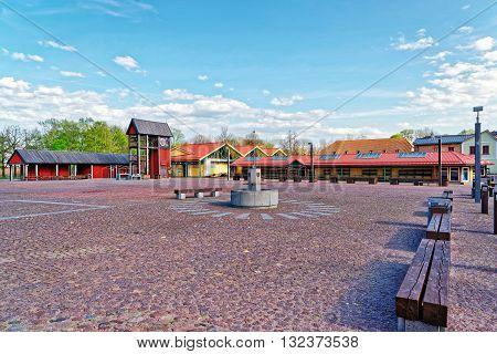 Market Square In Ventspils
