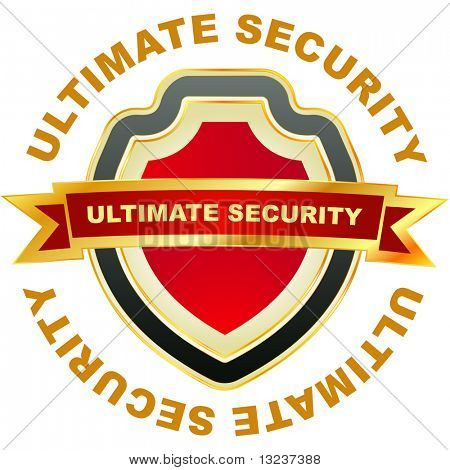 Ultimate security. Vector illustration.