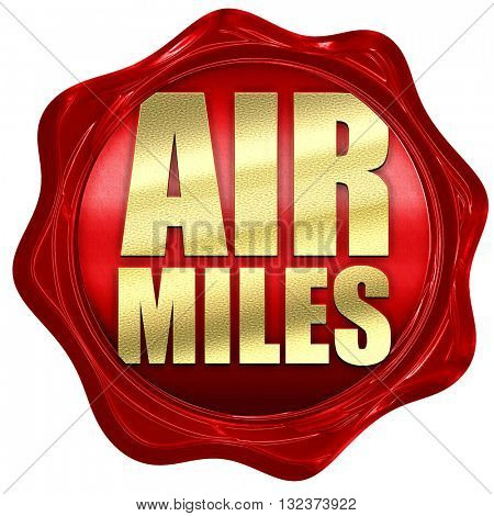 air miles, 3D rendering, a red wax seal