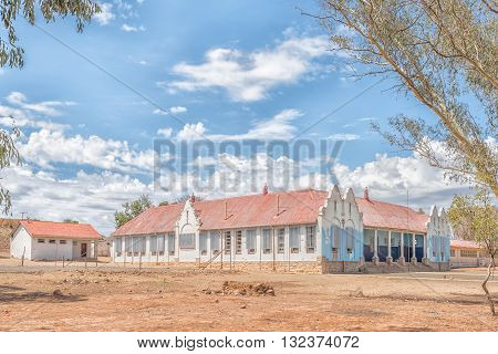A public secondary school in Venterstad. The town is on the Eastern Cape Province side of the Gariep Dam.