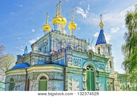 Saint Nicholas Orthodox Church In Ventspils In Latvia
