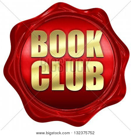 book club, 3D rendering, a red wax seal