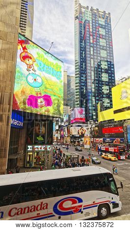 Crossroad In Times Square In New York
