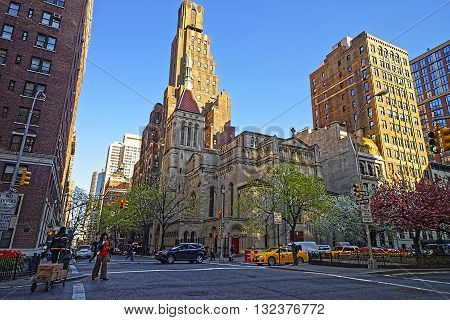 Street View Of Church Of Our Saviour In Manhattan