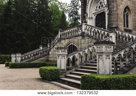 the old staircase leading to the tomb of Schwarzenberg