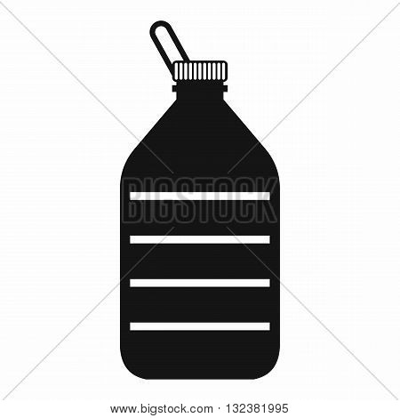 Large bottle of water icon in simple style isolated on white background