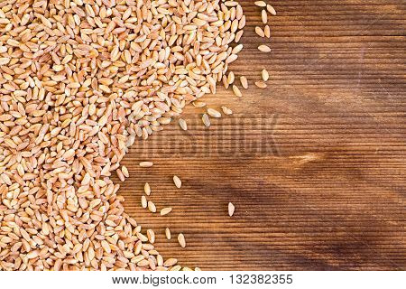 Close Up On Flax Seed Grains With Copy Space