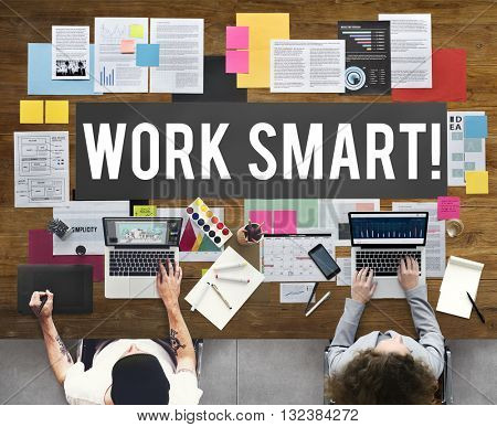 Work Smart Effectively Creative Thinking Concept