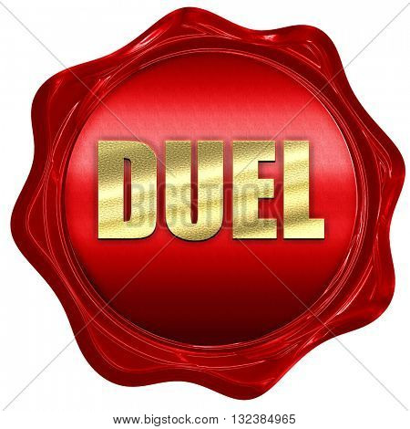 duel, 3D rendering, a red wax seal