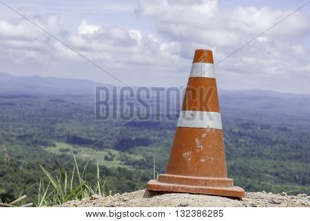 Cone rioting placed indicated that the construction of the danger zone on the mountain