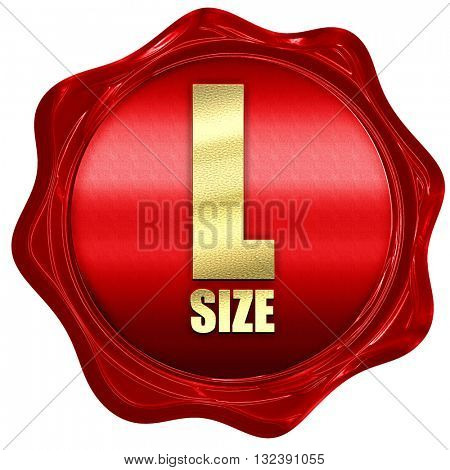 l size, 3D rendering, a red wax seal