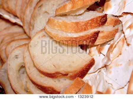 Basket Of Bread And Crackers
