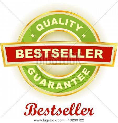 Bestseller emblem. Vector illustration.