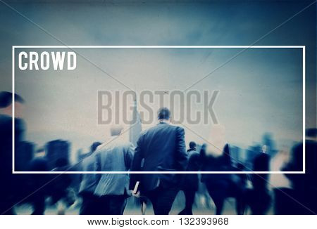 Crowd Audience Large Group of People Unstructured Concept