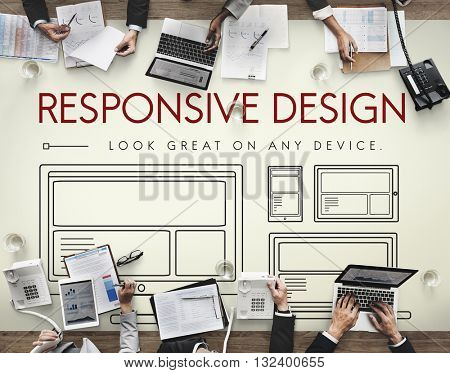 Responsive Design Layout Webpage Template Concept